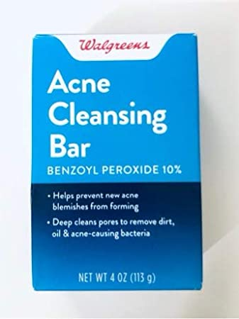 Walgreens Acne Treatment Cleansing Bar - With 10 Percernt Benzoyl Peroxide
