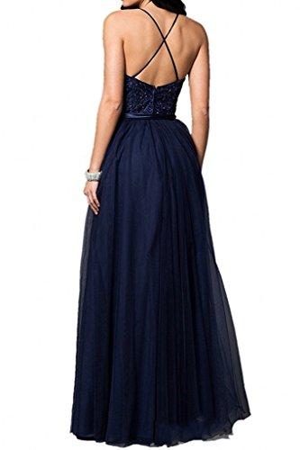 Himmel mit La Ballkleider Traeger Abendkleider Promkleider Marie Damen Langes Linie A Blau Rock Braut Spaghetti Blau 6Yq6r