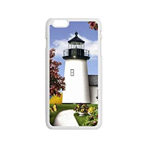 """Durable Platic Case Cover for iPhone6 4.7""""-Light House Pattern Printed Cell Phones Shell"""