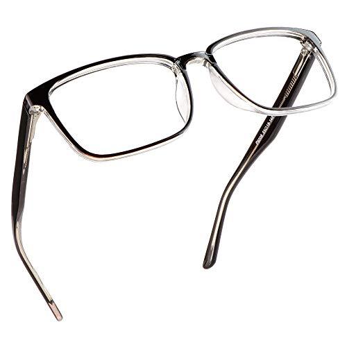 LifeArt Blue Light Blocking Glasses, Anti Eyestrain, Computer Reading Glasses, Gaming Glasses, TV Glasses for Women Men, Anti Glare (Coffee, No Magnification)