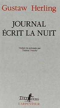 Journal écrit la nuit par Gustaw Herling