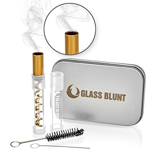 Glass Blunt Mini Glass Pipe, 3x More Compact Than it's Big Brother Glass...