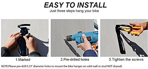 Dirza Bike Rack Garage Wall Mount Bike Hanger Storage System Vertical Bike Hook