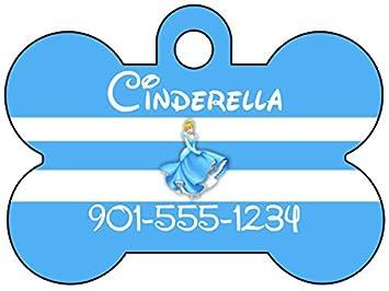 23cf9d8fc Amazon.com : Disney Princess Cinderella Dog Tag Pet Id Tag ...
