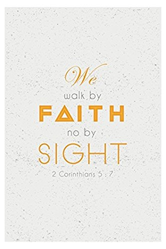 walk by faith bumper sticker - 3