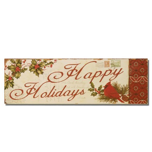 Edeco Decorative Christmas Wood Wall Sign Plaque