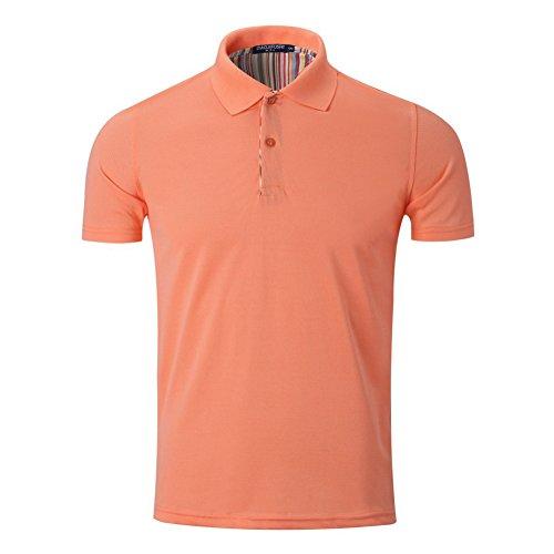 Cityfocus メンズ 半袖 ポロシャツ お洒落な重ね着スタイル カジュアル シンプル 無地 スキニー ファッション スポーツ ゴルフ ウェア 快適 多色選択