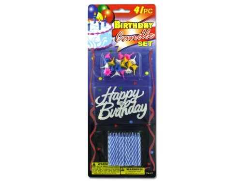 41 Pc B-Day Candle Set - Pack Of 96 by bulk buys