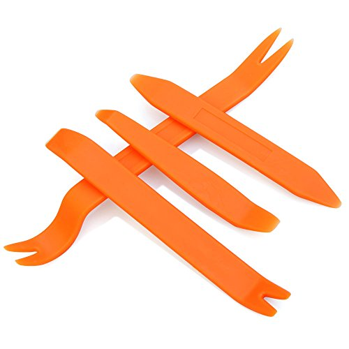 AndyGo 4pcs Auto Car Radio Door Clip Panel Trim Dash Audio Removal Installer Pry Tool