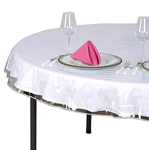 SOFINNI Clear Plastic Tablecloth Protector, Table Cloth Vinyl (70