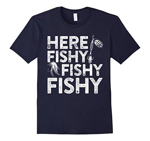 Mens Here Fishy Fishy Fishy T-Sh...