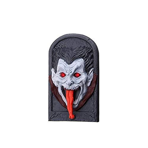 ZX101 Halloween Skull Vampire Witch Doorbell LED Light Scary Sound Trick Toy Decor Vampire ()