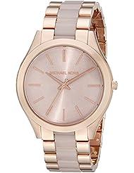 Michael Kors Womens Slim Runway Rose Gold-Tone Watch MK4294