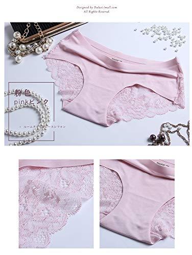 Zooma Damen Sexy Lace Unterhosen Panties Ladies Panties Unterwäsche Women's Briefs Hipsters 4 Pack (42-44/XL=Taille:36