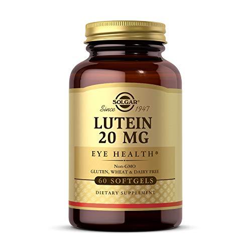 Solgar Lutein 20 mg, 60 Softgels - Supports Eye
