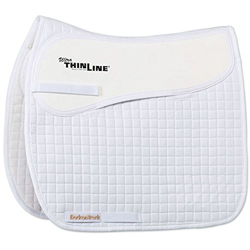 BACK ON TRACK THEREPY THERAPEUTIC CONTENDER II COMFORT DRESSAGE SADDLE PAD WHITE