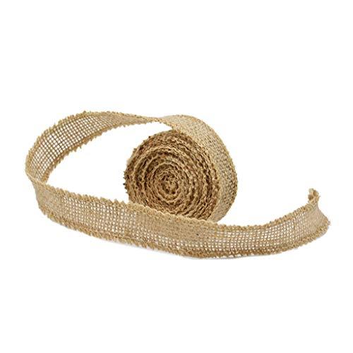 XeminorDIY Natural Jute Burlap Fabric Jute Roll Craft Burlap Ribbon for DIY Handmade Wedding Party Crafts Use 1 Roll 3M by Xeminor (Image #3)