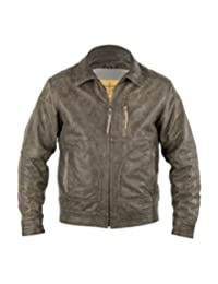 StS Ranchwear Western Jacket Boys Bomber Leather Zip Black STS5265