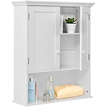 Wall Mount Bathroom Cabinet Medicine Toiletries Storage Organizer Cabinet  Compartments Home Kitchen Laundry Decor Decoration Furniture Sturdy And  Durable ...