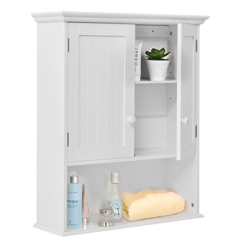 Wall Mount Bathroom Cabinet Medicine Toiletries Storage Organizer Cabinet Compartments Home Kitchen Laundry Decor Decoration Furniture Sturdy And Durable Modern And Stylish Large Storage Space - Beyond Modern Brushed Nickel Bowl