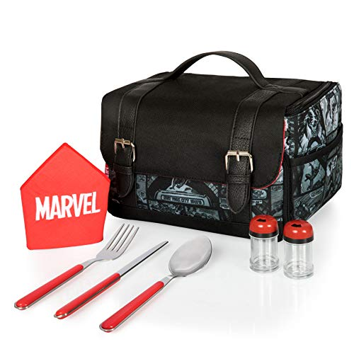 Marvel Comic Strips Insulated Lunch Tote with Service for One ()