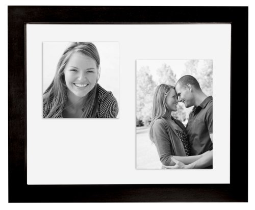 MCS 11x14 Inch Wood Float Frame, Black - See Frames Through