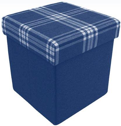 Pouf portaoggetti contenitore pieghevole poggiapiedi tavolino sgabello dustin - Marrone - 38x38x38 cm. Il Gruppone