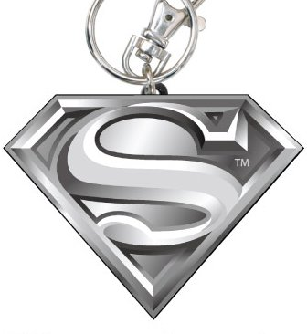 001 Superman Logo Pewter Key Ring