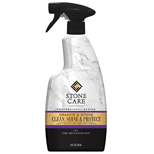 Granite Cleaner, Polish, and Sealer - 24 fl oz - Stone Care International - Cleans Polishes and Seals Stone Granite Quartz Marble Limestone Travertine Slate Surfaces (Best Granite Polish And Sealer)