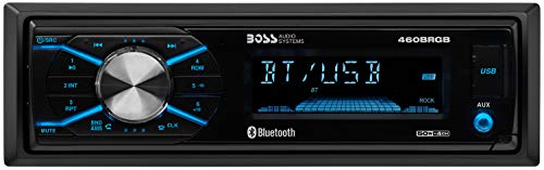 BOSS Audio 460BRGB Multimedia Car Stereo – Single Din, MP3, USB Port, (No CD/DVD Player) AUX Input, AM/FM Radio Receiver
