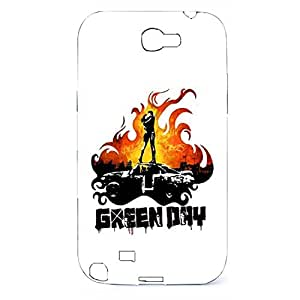 Attrective A Men Kiss A Woman In The Fire Print Painted Green Day Newest 3D Cellphone Case For Samsung Galaxy Note 2 N7100