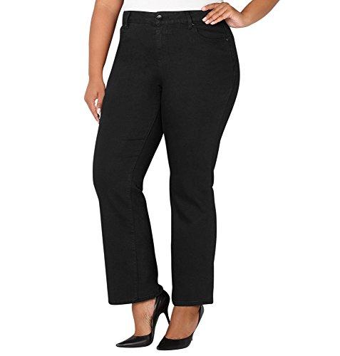 Avenue Womens 1432 Bootcut Jean In Black 28-32 Black