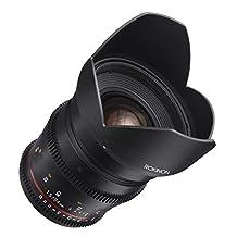 Rokinon DS24M-N Cine DS 24mm T1.5 ED AS IF UMC Full Frame Cine Wide Angle Lens for Nikon 24-24mm Fixed Lens for Nikon (FX) Cameras