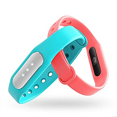 Xiaomi Mi Band 1S Heart Rate Monitor Smart Miband Pulse 2 Wristband Bracelet Fitness Wearable Tracker Smartband Six Colors (Black)