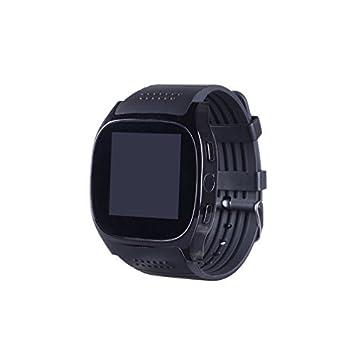 GIMTVTION T8M - Reloj inteligente con Bluetooth, reloj de pulsera desbloqueado con pasómetro, ritmo