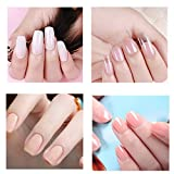 GONGting Polygel Nail Kit - 3 Colors Nail Extension Gel (Clear Pink White)+ 48 PC Fake nails