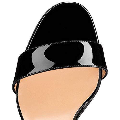 Cheville Taille 41 B4 Femme Soirée De Black De Talon Fête Sandales Mariage Transgenre TLJ Sexy Grande Club Sangles Haut KJJDE Plateforme fwzOqq