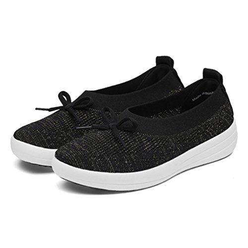 JRenok de Negro de Mujer Running Zapatillas Lona tw0xrTtqYn