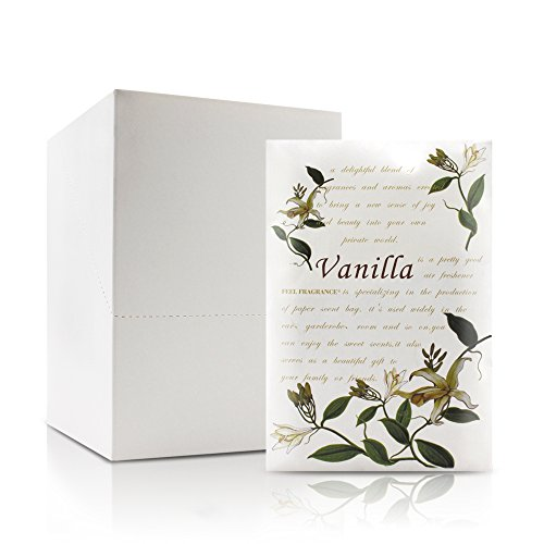 Feel Fragrance Scented Sachets Envelope for Drawers and Closets Lot of 12 (Vanilla)