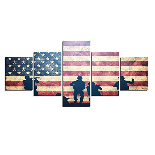 YOMIA 5D DIY Diamond Painting American Flag Cross Stitch Patterns Special Forces Paint by Number Craft Making Kits Crystal Rhinestone Full Diamond Embroidery Canvas Painting Kit