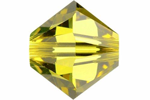 (12 pcs Swarovski Crystal Bicone #5301 Beads, Lime, 6mm)