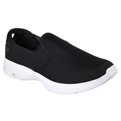Skechers Mens GOwalk 4 Contain Slip On Trainers Black/White