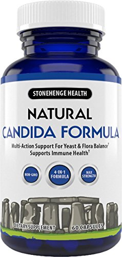 (Stonehenge Health Natural Candida Formula - 4-in-1 Max Strength Natural Herbal Antifungal Cleanse with Enzymes - Support for Yeast Infection + Flora Balance 1 Month Supply)