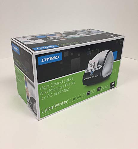 DYMO Label Printer | LabelWriter 450 Turbo Direct Thermal Label Printer, Fast Printing, Great for Labeling, Filing, Shipping, Mailing, Barcodes and More, Home & Office Organization