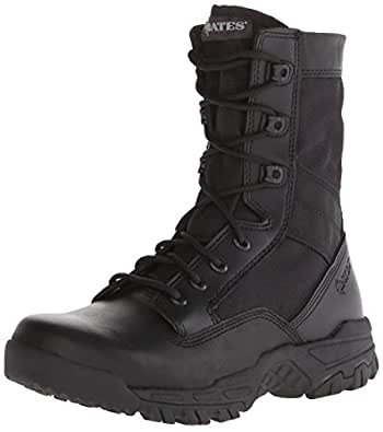 Bates Men's Zero Mass Black 8 Inch Leather Nylon Uniform Boot, Black, 7 M US
