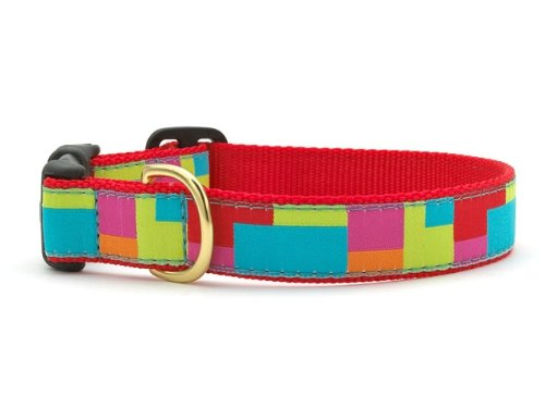 Up Country Color Block Dog Collar XS - 6-12""