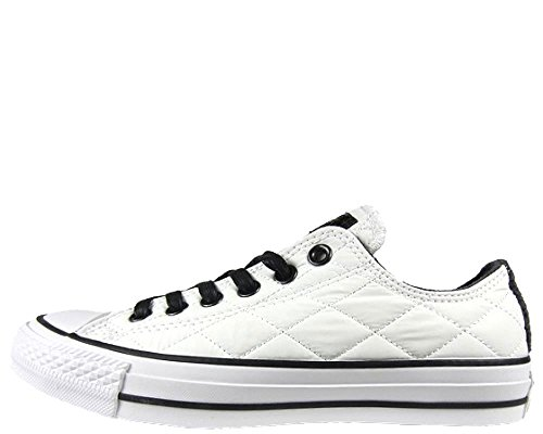 Converse Blanco/Negro Ox Quilted Zapatillas -UK 9