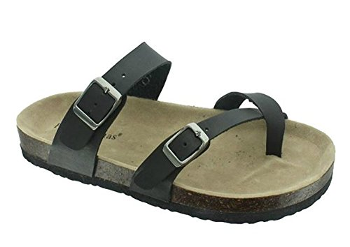 On Loop Vegan Women's 30 Bork Sandals Outwoods Black Leather Toe Slide YOq8A7