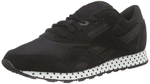Femme De Reebok coal white black Schwarz Course Classic Core Noir Chaussures Nylon WxanpTaC