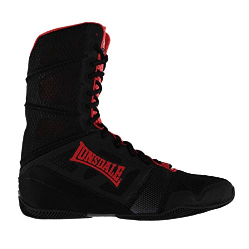 Tops Sports Hi Boots Lonsdale Mens Black Cruiser Red Boxing Shoes qtRw6gUfn